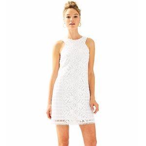 Lilly Pulitzer White Mango Lace Shift Dress